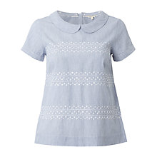 Buy White Stuff Leamington Top, Crisp Blue Online at johnlewis.com