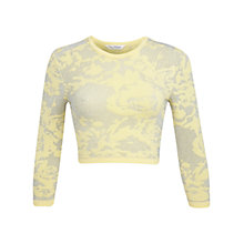Buy Miss Selfridge Cropped Jumper, Yellow Online at johnlewis.com