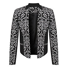 Buy Miss Selfridge Aztec Monochrome Jacket, Black/White Online at johnlewis.com