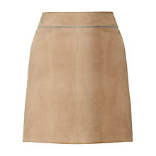 Buy Jigsaw Bonded Suede Jersey Skirt, Stone Online at johnlewis.com