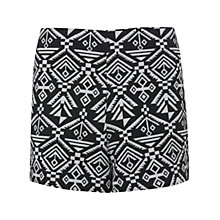 Buy Miss Selfridge Aztec Print Shorts, Multi Black Online at johnlewis.com