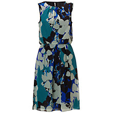 Buy Adrianna Papell Chiffon Print Blouson Dress, Multi Blue Online at johnlewis.com