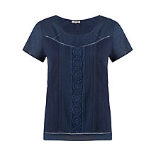 Buy Jigsaw Embroidered Top Online at johnlewis.com