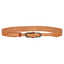 Buy Jigsaw Vias Waist Belt, Tan Online at johnlewis.com