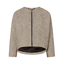 Buy Whistles Sculptured Mia Jacket, Neutral Online at johnlewis.com