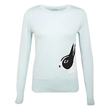 Buy Miss Selfridge Bunny Jumper, Mint Green Online at johnlewis.com