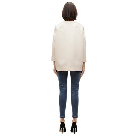Buy Whistles Esther Longline Jacket, Ivory Online at johnlewis.com