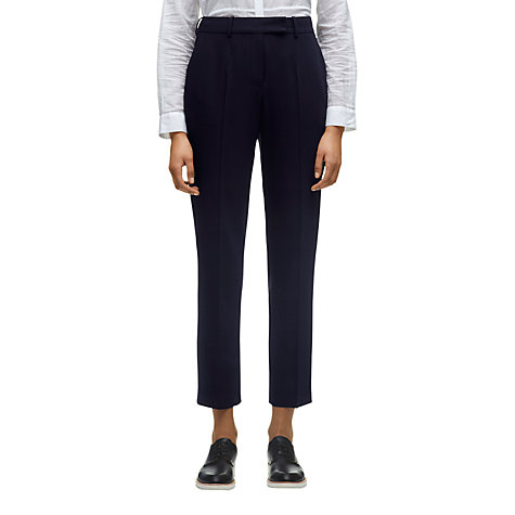 Buy Whistles Wool Blend Campbell Tailored Trousers, Navy Online at johnlewis.com