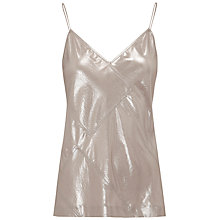 Buy Whistles Patchwork Vest Top, Silver Online at johnlewis.com