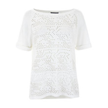 Buy White Stuff Scout Front Print T-Shirt, Grey Online at johnlewis.com