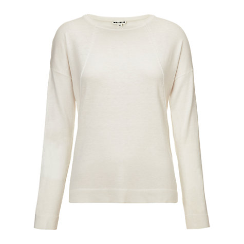 Buy Whistles Marley Boxy Silk-Mix Jumper Online at johnlewis.com