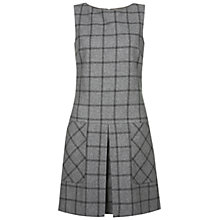 Buy Hobbs Albury Check Wool Dress, Grey Online at johnlewis.com