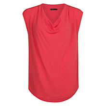 Buy Mango Drape T-shirt, Medium Red Online at johnlewis.com