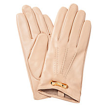 Buy Ted Baker Leather Bow Detail Gloves, Taupe Online at johnlewis.com