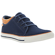 Buy Dune San Diego Perforated Trainers, Navy Online at johnlewis.com