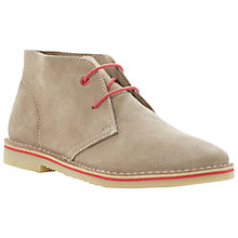 Buy Bertie Clumsy Suede Desert Boots, Stone Online at johnlewis.com