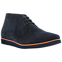 Buy Dune Candy Shop Suede Chukka Boots, Navy Online at johnlewis.com