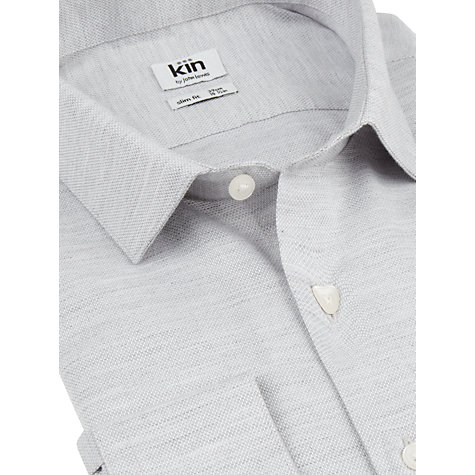 Buy Kin by John Lewis Marl Pique Long Sleeve Shirt Online at johnlewis.com