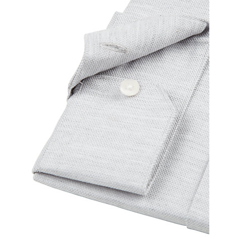 Buy Kin by John Lewis Marl Pique Long Sleeve Shirt, Grey Online at johnlewis.com