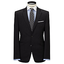 Buy John Lewis Pinstripe Tailored Suit Jacket, Charcoal Online at johnlewis.com