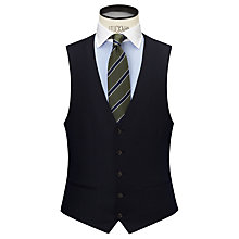 Buy John Lewis Milled Tonal Stripe Waistcoat, Navy Online at johnlewis.com