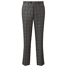 Buy John Lewis Milled Glen Check Tailored Suit Trousers, Grey Online at johnlewis.com