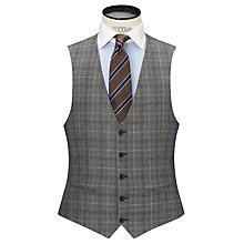 Buy John Lewis Milled Glen Check Tailored Waistcoat, Grey Online at johnlewis.com