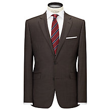 Buy John Lewis Sharkskin Tailored Wool Suit Jacket, Brown Online at johnlewis.com