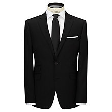 Buy John Lewis Fine Herringbone Tailored Suit Jacket, Black Online at johnlewis.com
