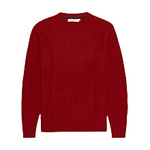 Buy Ben Sherman Cable Knit Crew Neck Jumper, Red Online at johnlewis.com