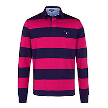 Buy Gant Bar Stripe Long Sleeve Rugby Shirt Online at johnlewis.com