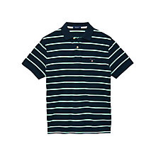 Buy Gant Breton Stripe Polo Shirt, Dark Blue Online at johnlewis.com