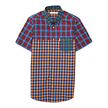 Buy Ben Sherman Short Sleeved Contrast Check Shirt, Multi Online at johnlewis.com