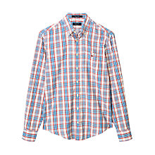Buy Gant Editors Oxford Check Long Sleeve Shirt, Off White Online at johnlewis.com