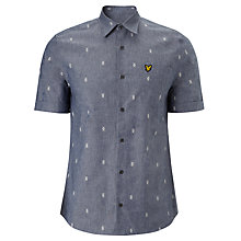 Buy Lyle & Scott Argyle Print Short Sleeve Shirt, Dark Chambray Online at johnlewis.com