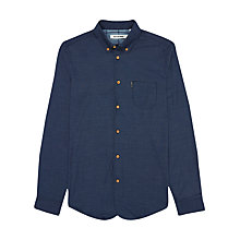 Buy Ben Sherman Two Finger Penny Collar Shirt, Blue Online at johnlewis.com