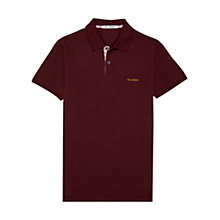 Buy Ben Sherman Woven Trim Placket Polo Shirt, Port Online at johnlewis.com