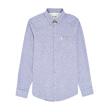 Buy Ben Sherman Mini Leaf Flecked Long Sleeve Shirt, Blue Online at johnlewis.com