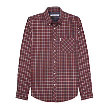 Buy Ben Sherman Two Finger Check Shirt, Crimson Online at johnlewis.com