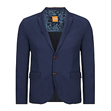 Buy BOSS Orange Bene Slim Fit Cotton Blazer, Bright Blue Online at johnlewis.com
