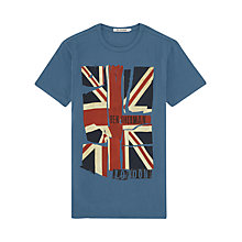 Buy Ben Sherman Union Jack Flag Crew Neck T-Shirt, Blue Online at johnlewis.com