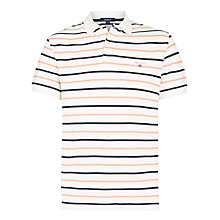 Buy Gant Breton Stripe Pique Polo Shirt, Off White Online at johnlewis.com