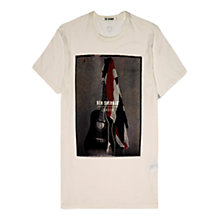 Buy Ben Sherman Union Jack Guitar Crew T-Shirt, White Online at johnlewis.com