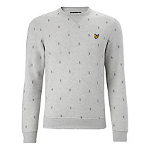 Buy Lyle & Scott Micro Argyle Sweatshirt, Light Grey Marl Online at johnlewis.com