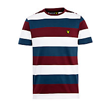 Buy Lyle & Scott Rugby Striped T-Shirt, British Sky Online at johnlewis.com