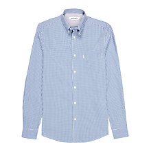 Buy Ben Sherman Two Finger Check Long Sleeve Shirt, Blue Online at johnlewis.com