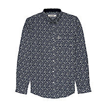 Buy Ben Sherman Digital Paisley Print Long Sleeve Shirt, Navy Online at johnlewis.com