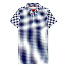 Buy Ben Sherman Gingham Print Polo Shirt, Blue/White Online at johnlewis.com