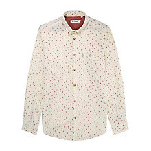 Buy Ben Sherman 2 Finger Print Long Sleeve Shirt, Cream Online at johnlewis.com