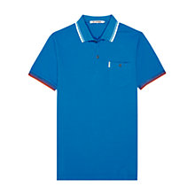 Buy Ben Sherman Contrast Tipped Polo Shirt, Blue Online at johnlewis.com